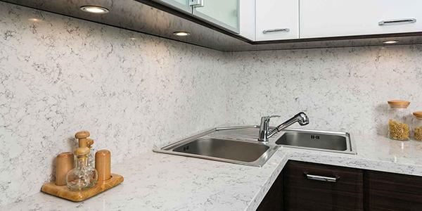 beyaz renkte belenco model mutfak tezgahı etiler