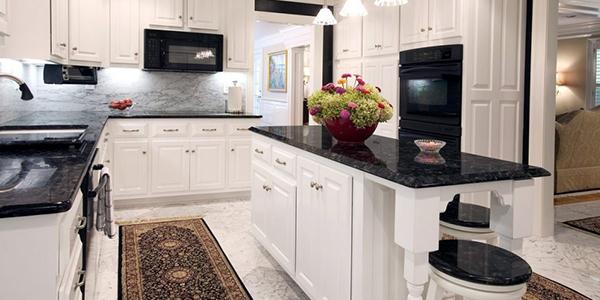 siyah renk belenco mutfak tezgah modelleri avcılar