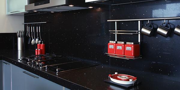 siyah çimstone mutfak tezgahı florya,