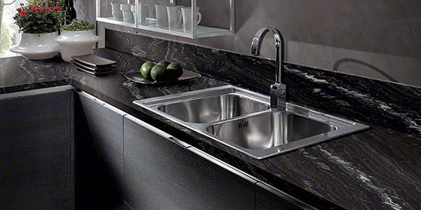siyah granit model mutfak tezgahı şile